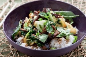 Recipe Stir Fry Ginger Beef Bok Choy