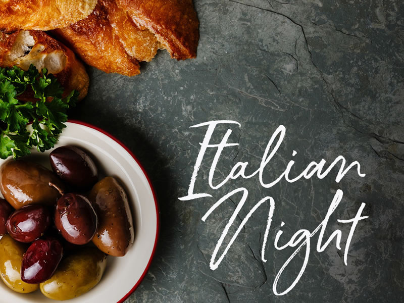 Whats On Italian Night 2019 11 14