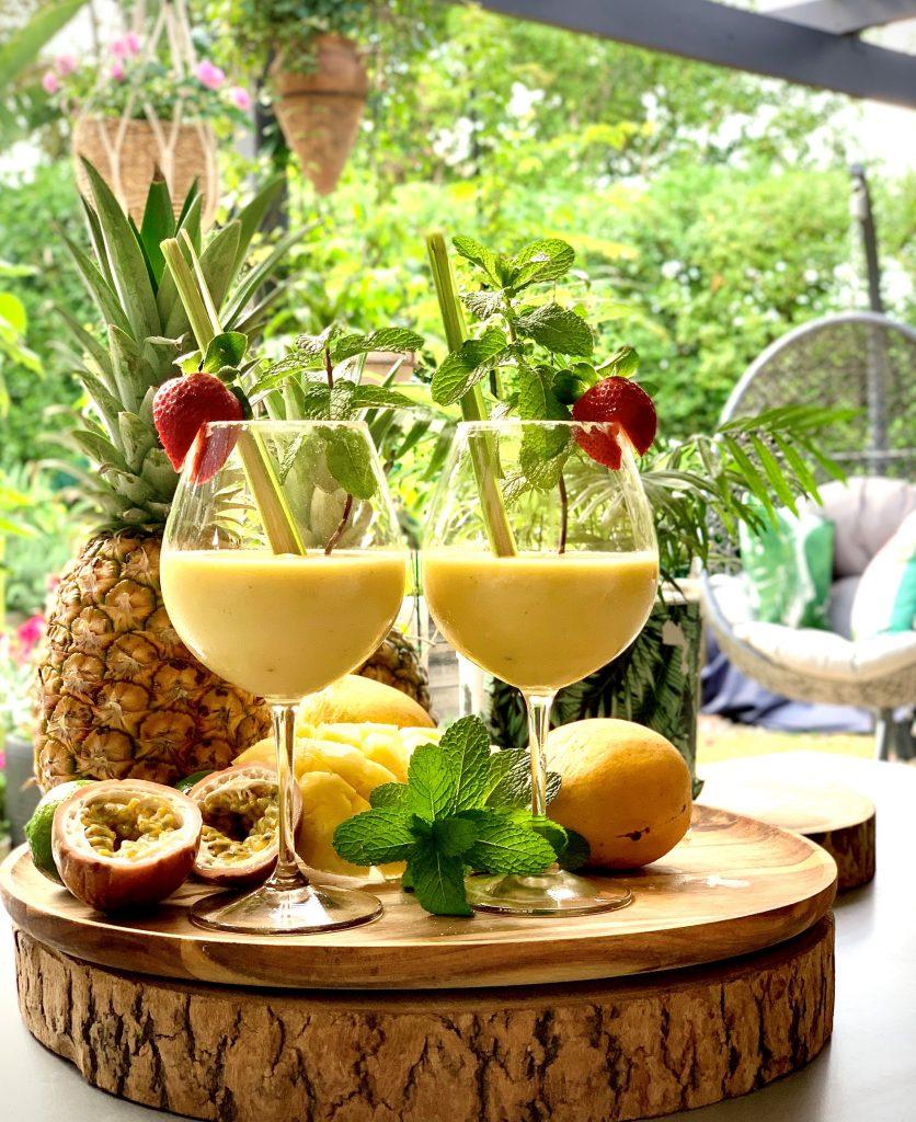 Recipe Pine Mango Pash Pina Colada Mocktail