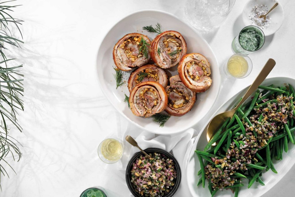 Recipe Rolled Pork Belly With Apple Raisin Stuffing