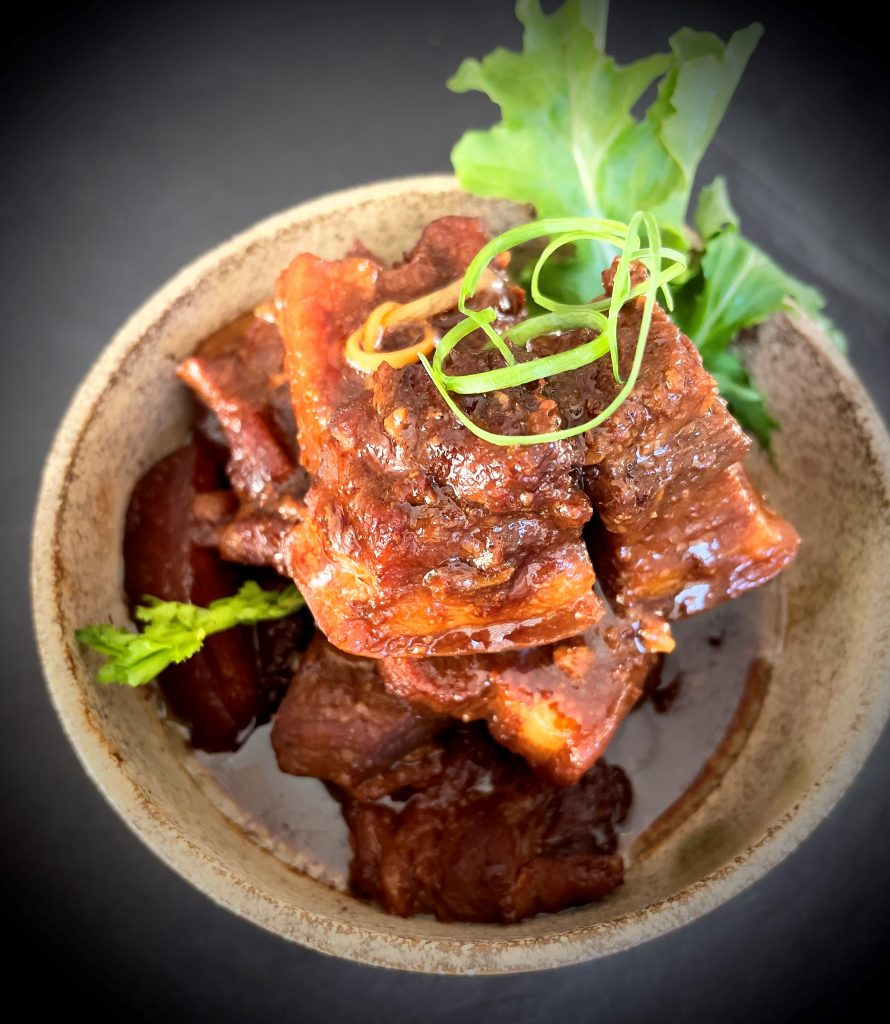 Recipe Pork Belly With Mandarin Peel Miso And Mirin Reduction01