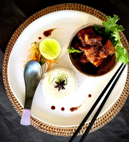 Recipe Pork Belly With Mandarin Peel Miso And Mirin Reduction02